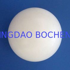 China Anti-Corrosion PTFE Balls / White PTFE Material For Sealing Parts supplier