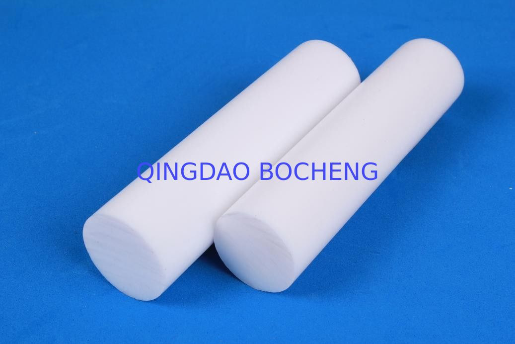 Extruded ptfe teflon rod pure white for