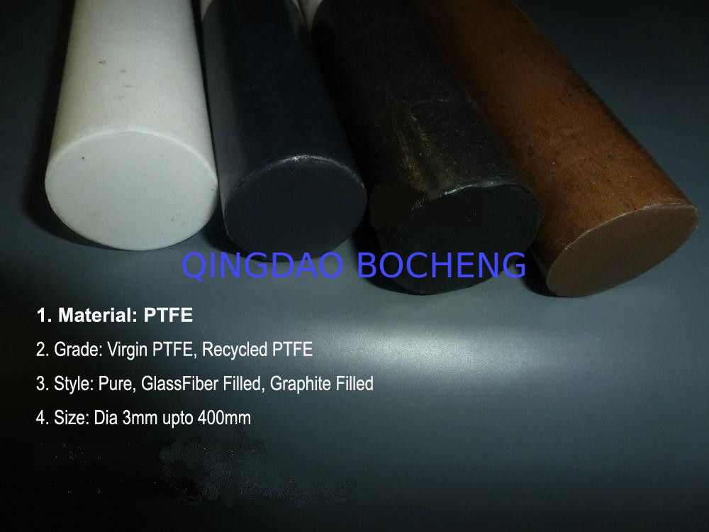 High Chemical Resistant Natural Filled Teflon Rod With Long