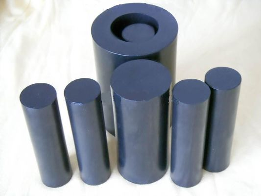 China 100mm Width Black Teflon Rods / PTFE Rod For Chemical , Self Lubricating distributor